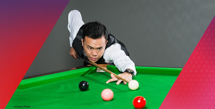 Billiards player Marco Fu captured a bronze medal at the WPBSA SangSom 6 Red World Championship 2017.