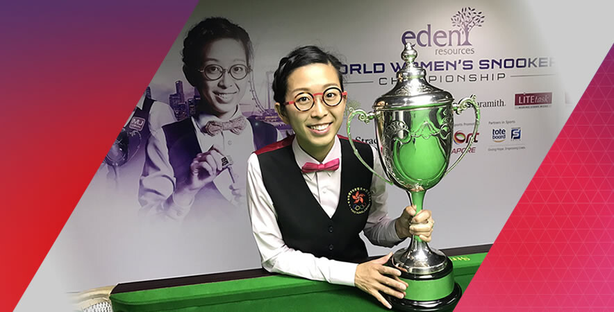 Hong Kong ladies billiard icon Ng on-yee reclaimed her world championships title at the 2017 WLBSL World Women's Snooker Championship.