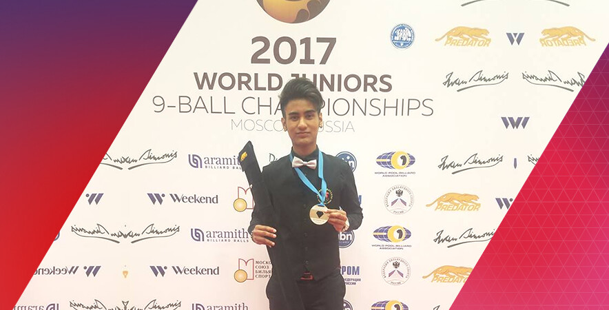 Promising billiard athlete Robbie James Capito claimed the historic silver medal in the boys' U17 event at the 2017 World Juniors 9-Ball Championships.