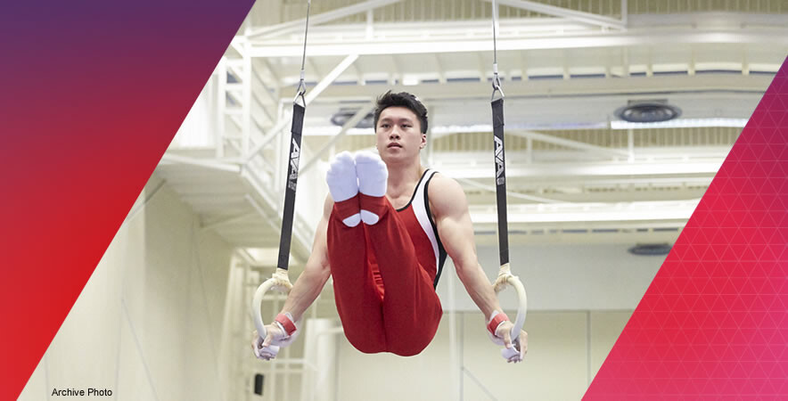 The Hong Kong gymnast Ng Kiu-chung won struck a silver medal in Men's Ring at the 7th Seniors Artistic Gymnastics Asian Championships.
