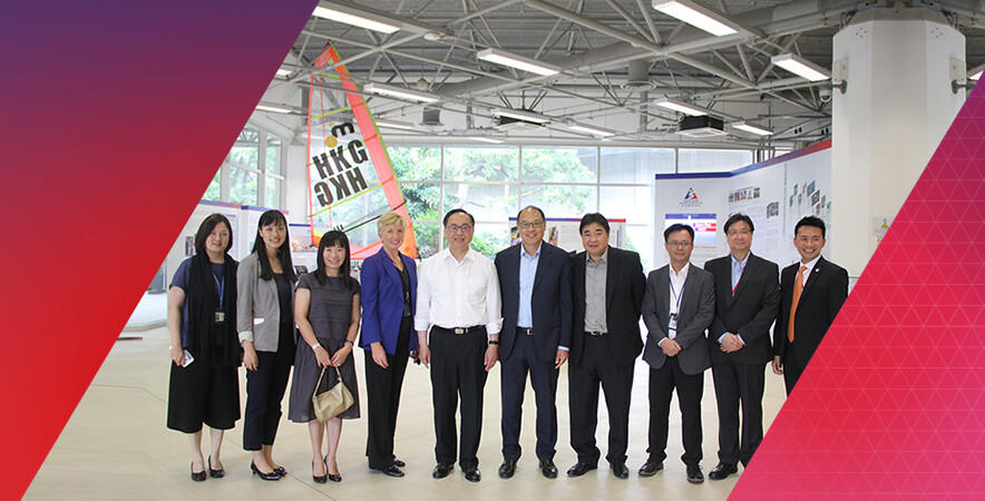 The Secretary for Innovation & Technology Bureau visited the HKSI on 18 September.