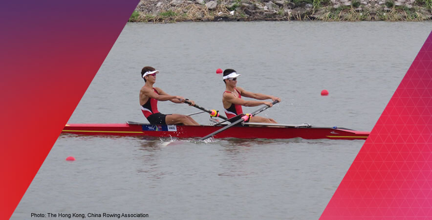The Hong Kong rowing team's juniors won 2 gold and 3 silver medals at the 2016 Asian Rowing Junior Championships in Pattaya, Thailand.