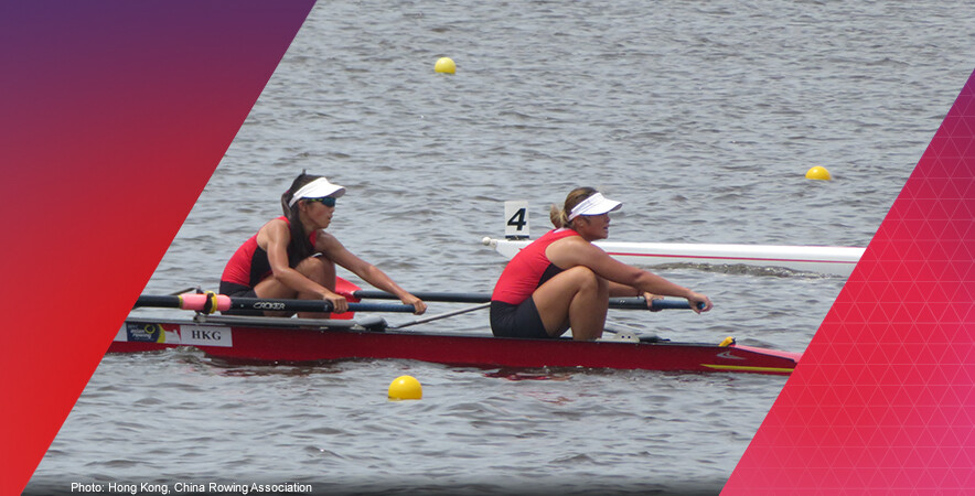 Junior rowers Cheng Cheuk-kwan and Lee Mei-po paddled their way to a silver medal in the junior women's pair at the 2017 Asian Rowing Junior Championships.