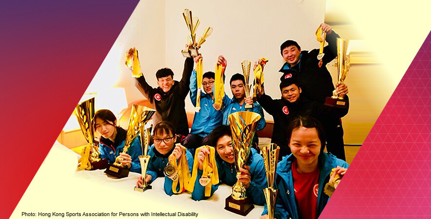 The Hong Kong para table tennis team captured 10 golds, 9 silvers and 6 bronzes at the INAS World Table Tennis Championships 2017.