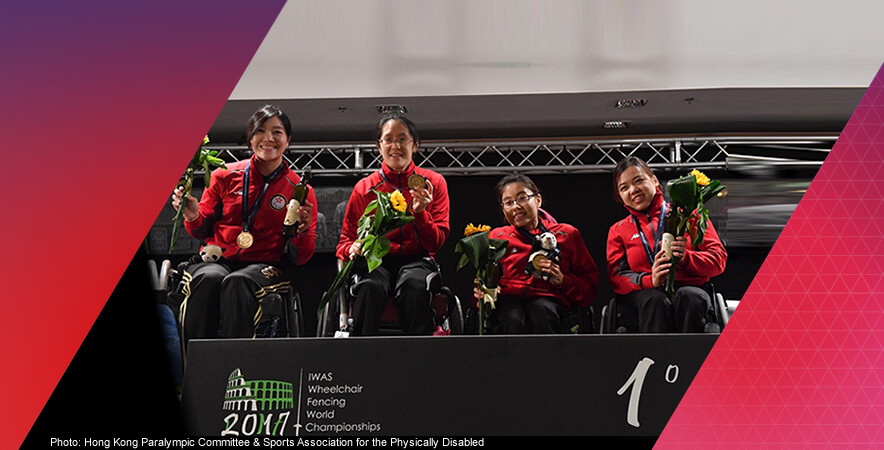 Hong Kong wheelchair fencers captured 3 medals at the IWAS Wheelchair Fencing World Championships 2017.