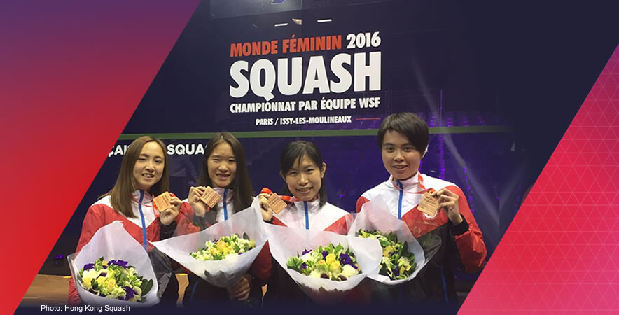 Hong Kong women's squash team won a breakthrough bronze medal at the WSF Women's World Team Championship 2016.