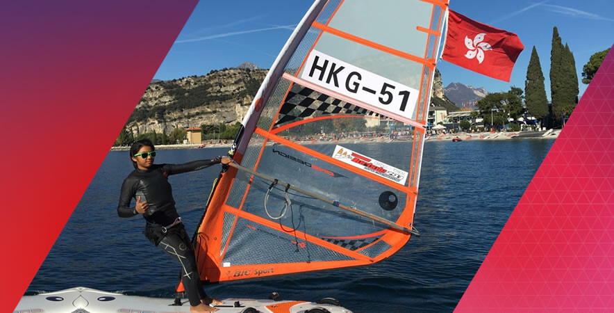 The Hong Kong junior windsurfer Mak Cheuk-wing won a first ever gold in Girls U15 at the 2016 Techno 293 World Championships in Lago di Garda, Italy.