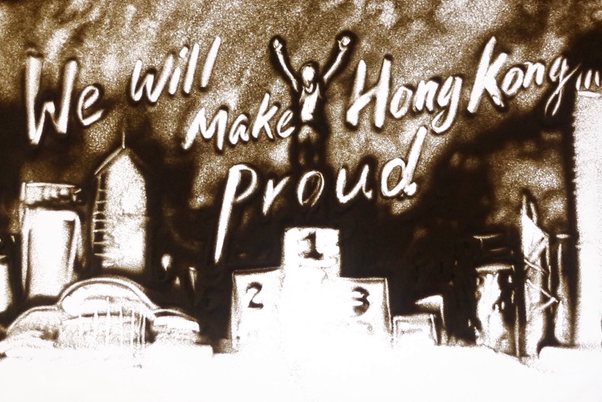 沙畫說故事:We Will Make Hong Kong Proud