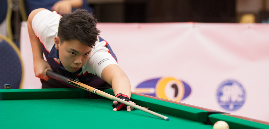 Junior billiard sports player Yip Kin-ling took the boys' U19 title at the 2018 World Juniors 9-Ball Championships.