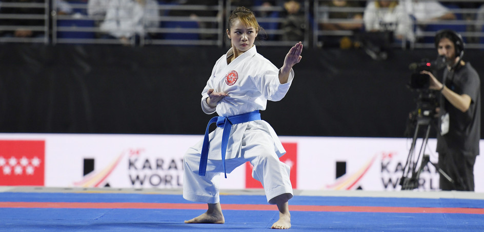 Lau Mo-sheung became the first Hong Kong karatedo athlete to ever win a medal at the World Championships.