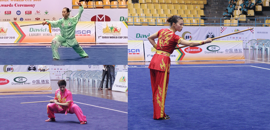 The wushu team captured 6 gold, 2 silver and 2 bronze medals at the 2nd Taolu World Cup held in Myanmar.