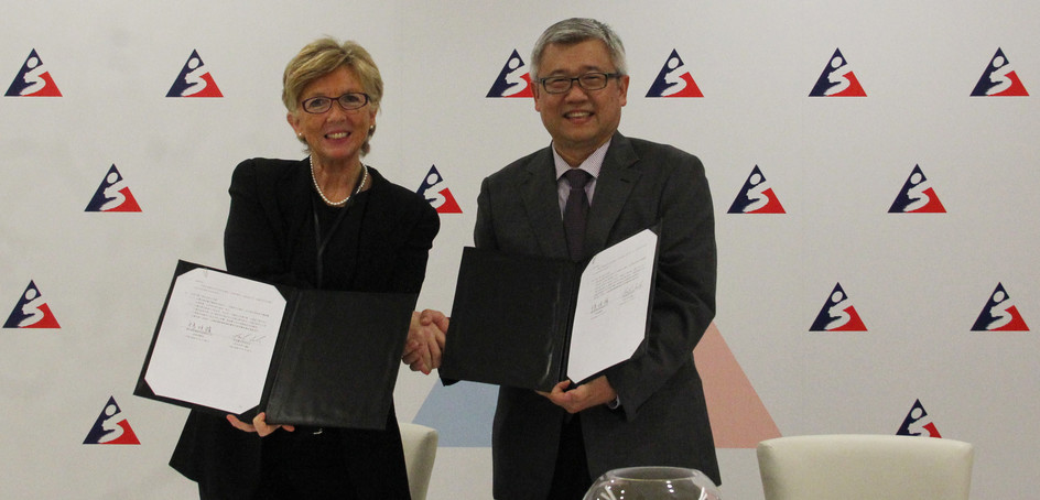 The HKSI signed a Memorandum of Understanding with Chinese Taipei's Landseed Hospital on 30 November.