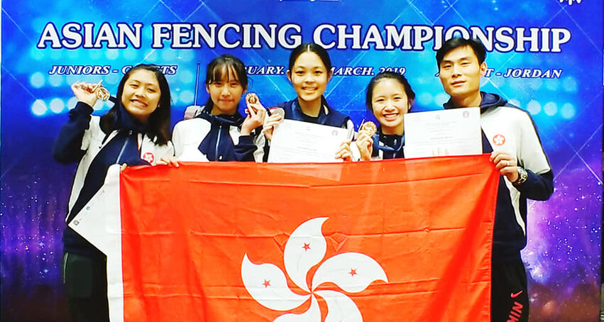 6 Medals at Asian Junior Fencing Champs