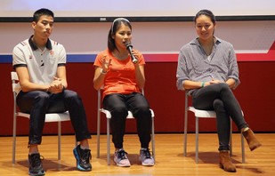 (From left) Three Olympians <strong>Chan Ming-tai</strong>,