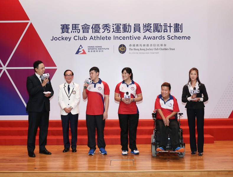 <p>(2<sup>nd</sup> from left) Mr Patrick Ng BBS MH, Chef de Mission of the Rio Paralympic Games Hong Kong Delegation and the Rio Paralympic medallists including Tang Wai-lok (swimming), Yu Chui-yee (wheelchair fencing) and Leung Yuk-wing (boccia) share with guests what they gained from their participation at the Games.</p>