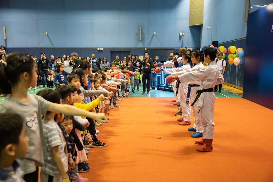 <p>Demonstration and challenge zones, featuring Karatedo, Rugby, Wheelchair Fencing and Wushu were staged for the public to get up close and personal with elite athletes.</p>
