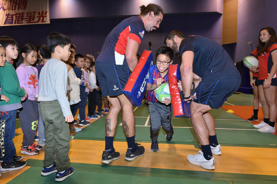 <p>Demonstration and challenge zones, featuring Karatedo, Rhythmic Gymnastics, Rugby and Wushu were staged for the public to get up close with elite athletes.</p>