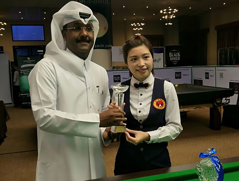 Wan Ka-kai (right) (Photo: Asian Confederation of Billiard Sports)