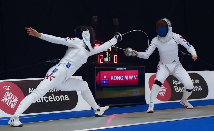 Left: Kong Man-wai (Photo: International Fencing Federation)